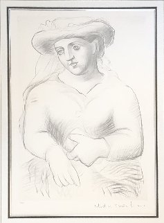 Femme Au Chapeau Lissant in Livre Or Limited Edition Print by  Picasso Estate Signed Editions
