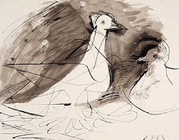 Pigeons Limited Edition Print -  Picasso Estate Signed Editions