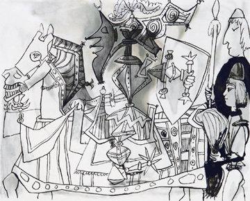 Jeux De Pages Limited Edition Print -  Picasso Estate Signed Editions