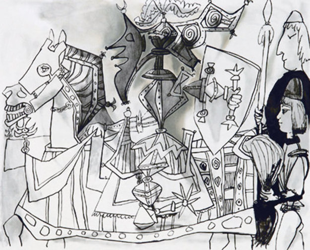 Jeux De Pages Limited Edition Print by  Picasso Estate Signed Editions