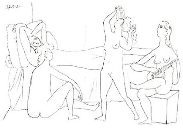 Quatre Nus Au Harem Limited Edition Print by  Picasso Estate Signed Editions