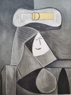 Femme Au Cheau Gris Limited Edition Print by  Picasso Estate Signed Editions