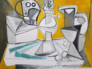 Tete De Morte, Lampe Cruches Et Poireaux  Limited Edition Print -  Picasso Estate Signed Editions