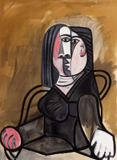 Femme Assise Dans Un Fauteuil Limited Edition Print by  Picasso Estate Signed Editions