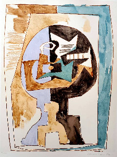 Guéridon Et Guitare Limited Edition Print -  Picasso Estate Signed Editions