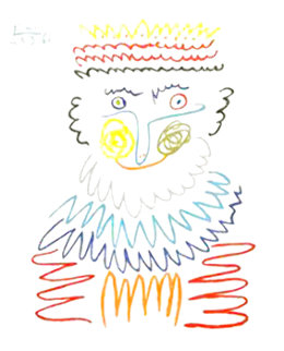 Joyous King   Limited Edition Print -  Picasso Estate Signed Editions