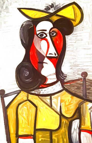 Portrait De Femme Au Chapeau Et à La Robe Vert Jaune  Limited Edition Print by  Picasso Estate Signed Editions