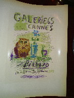 Galerie 65 Cannes Poster 1959 Limited Edition Print by  Picasso Estate Signed Editions - 2