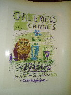 Galerie 65 Cannes Poster 1959 Limited Edition Print by  Picasso Estate Signed Editions - 3