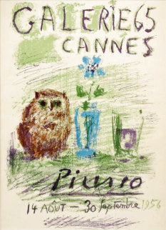 Galerie 65 Cannes Poster 1959 Limited Edition Print -  Picasso Estate Signed Editions