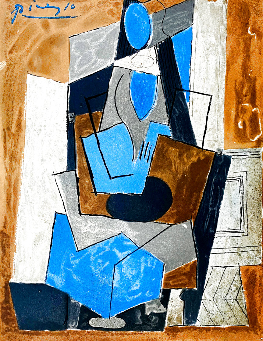 Femme Assise 1982 Limited Edition Print by  Picasso Estate Signed Editions