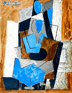 Femme Assise 1982 Limited Edition Print -  Picasso Estate Signed Editions
