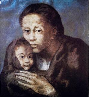 Mere Et Enfant Au Fichu 1963 Limited Edition Print -  Picasso Estate Signed Editions