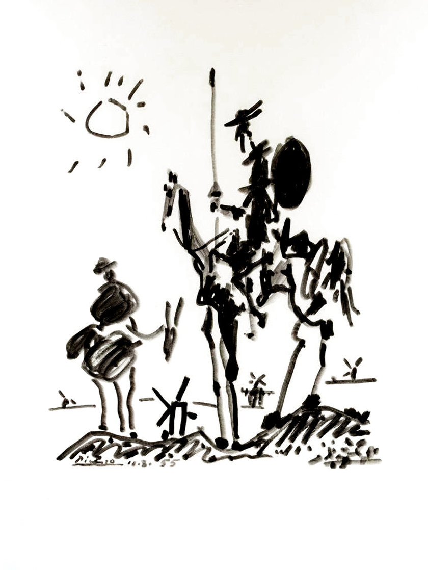 Don Quixote 1955 Limited Edition Print by  Picasso Estate Signed Editions