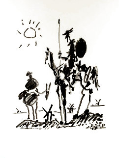 Don Quixote 1955 Limited Edition Print -  Picasso Estate Signed Editions