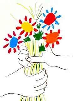 Le Bouquet De Fleurs 1958 Limited Edition Print -  Picasso Estate Signed Editions