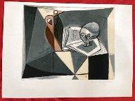 Tete De Mort Et Livre 1979 Limited Edition Print by  Picasso Estate Signed Editions - 1