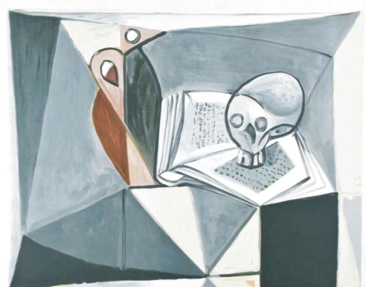Tete De Mort Et Livre 1979 Limited Edition Print by  Picasso Estate Signed Editions