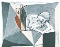 Tete De Mort Et Livre 1979 Limited Edition Print by  Picasso Estate Signed Editions - 0