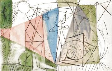 Joueur De Flute Et Gazelle 1979 Limited Edition Print -  Picasso Estate Signed Editions