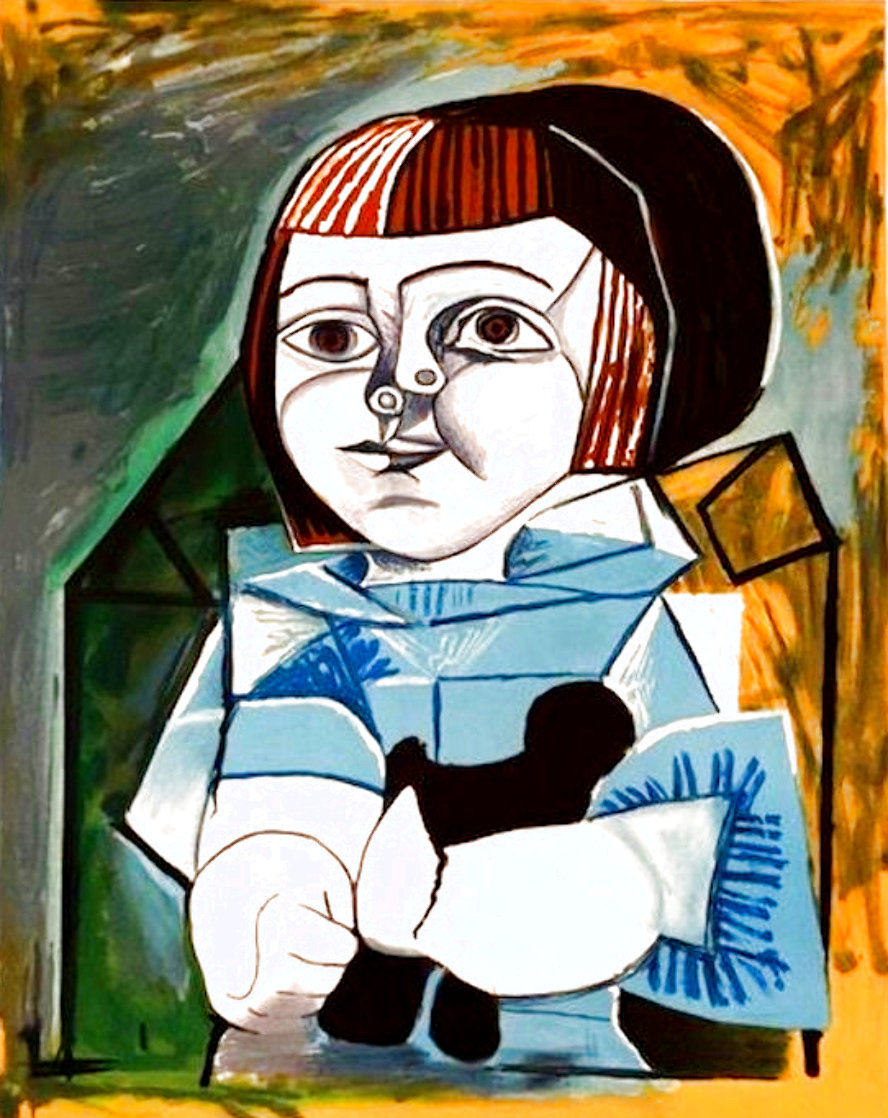 Paloma En Bleu 1979 Limited Edition Print by  Picasso Estate Signed Editions