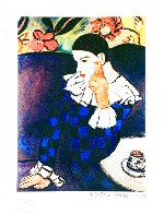 Harlequin Leaning on His Elbow Limited Edition Print by  Picasso Estate Signed Editions - 1