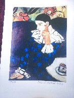 Harlequin Leaning on His Elbow Limited Edition Print by  Picasso Estate Signed Editions - 3