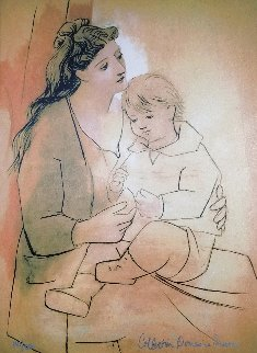Mother And Child  Limited Edition Print -  Picasso Estate Signed Editions