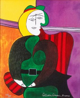 Woman in Red Armchair Limited Edition Print -  Picasso Estate Signed Editions