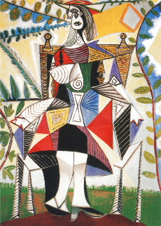 Girl in Colorful Dress Limited Edition Print -  Picasso Estate Signed Editions
