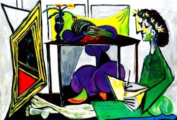 Interior With Girl Drawing Limited Edition Print -  Picasso Estate Signed Editions
