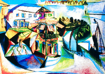 Cafe At Royan Limited Edition Print -  Picasso Estate Signed Editions
