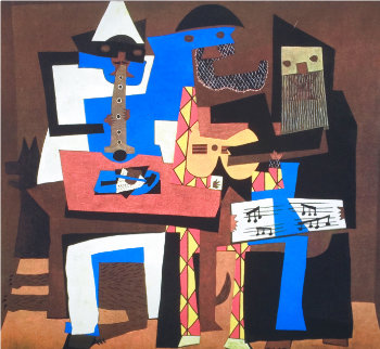 Three Musicians Limited Edition Print -  Picasso Estate Signed Editions