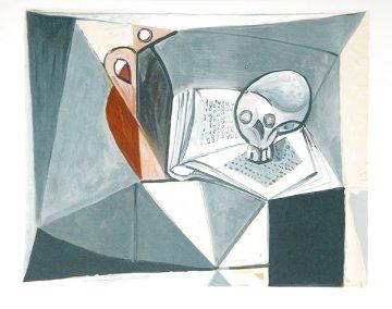 Tete De Mort Et Livre Limited Edition Print -  Picasso Estate Signed Editions