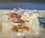 La Magdalena 1999 23x23 Original Painting - Pietro Piccoli