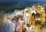 Colpi Di Luce 1999 35x31 Original Painting - Pietro Piccoli