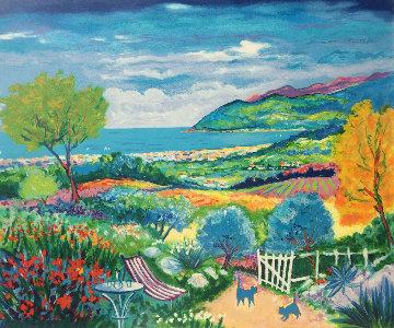 L'allee Du Jardin a Cannes 1998 Limited Edition Print - Jean Claude Picot