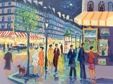 Soir Sur Les Grands Boulevard 1988 Limited Edition Print - Jean Claude Picot