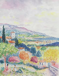 Mandelieu Watercolor 1989 33x30 Watercolor - Jean Claude Picot