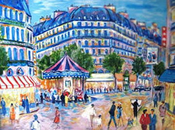 Le Manege La Soir a Paris 2000 Limited Edition Print by Jean Claude Picot
