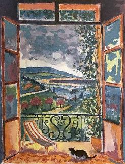 Le Chat Sur Le Balcon 2000 Limited Edition Print - Jean Claude Picot