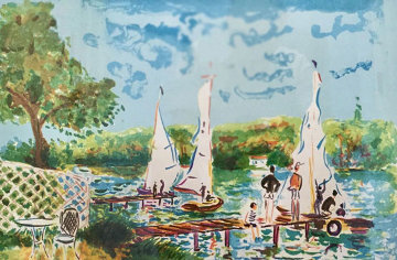Sunday Sailing 1990 Limited Edition Print - Jean Claude Picot