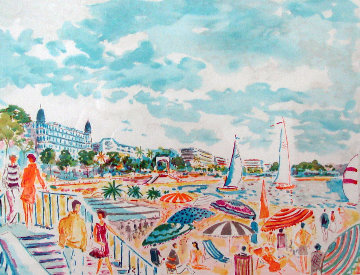 Vacoules a Cannes 1990 Limited Edition Print - Jean Claude Picot