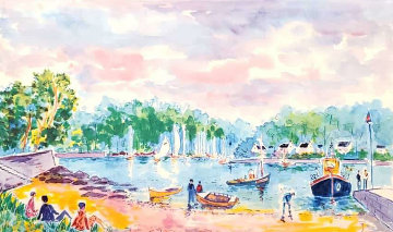 Port a Bellvue 2004 Limited Edition Print by Jean Claude Picot