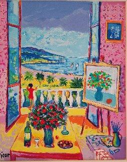 Les Fleurs De La Prominade Embellished Limited Edition Print - Jean Claude Picot