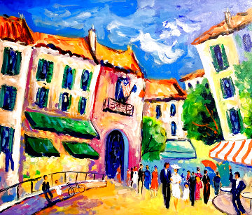 Le Marriage a Mougins 2011 28x32 Original Painting - Jean Claude Picot
