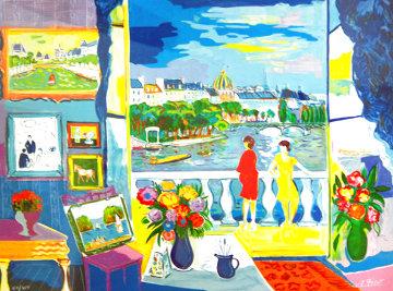 Deux Femme Au Balcon 1992 Limited Edition Print - Jean Claude Picot