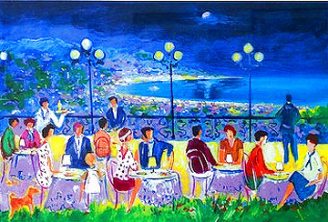 Terrasse La Soir a Cannes AP 2004 Limited Edition Print - Jean Claude Picot