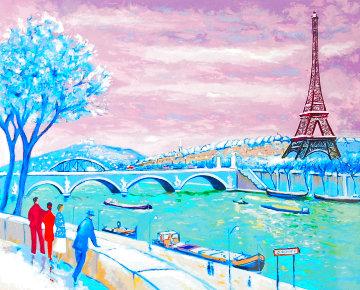 La Tour Eiffel En Hiver 1999 Limited Edition Print - Jean Claude Picot