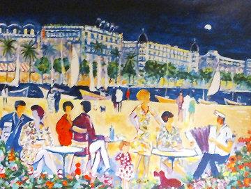 Un Soir De Cannes 1998 Embellished Limited Edition Print - Jean Claude Picot